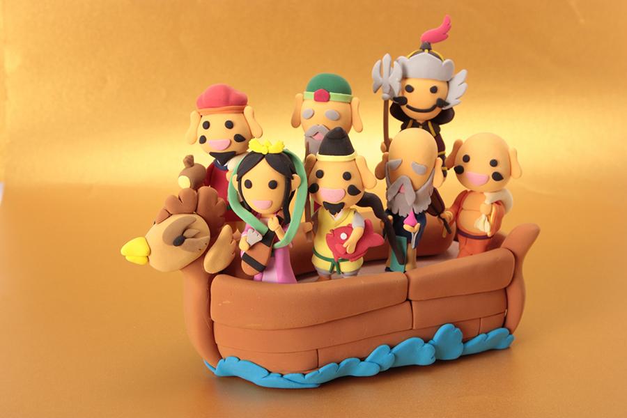 七福神の乗った宝船