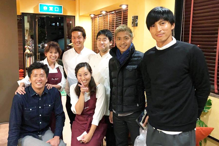 Bon Masudaにご来店した清水エスパルスの鎌田選手たち