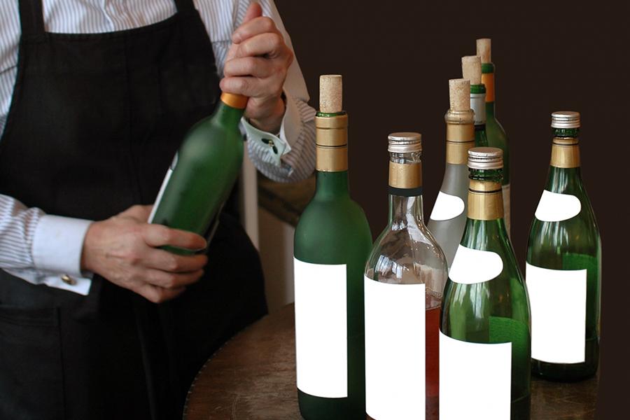 勢揃いしたワイン