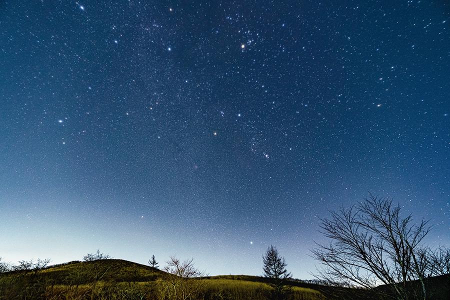 満点に輝く星空の写真