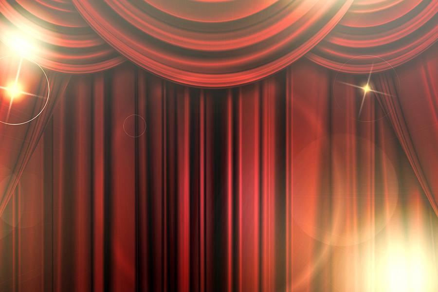 赤い舞台カーテン